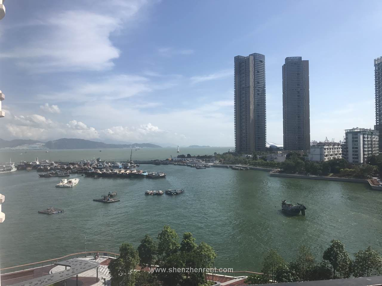 Nice sea view  4 bedrooms apartment in shekou for rent