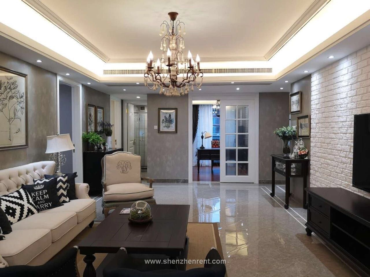 New decoration 4 bedrooms apartment in shekou for rent