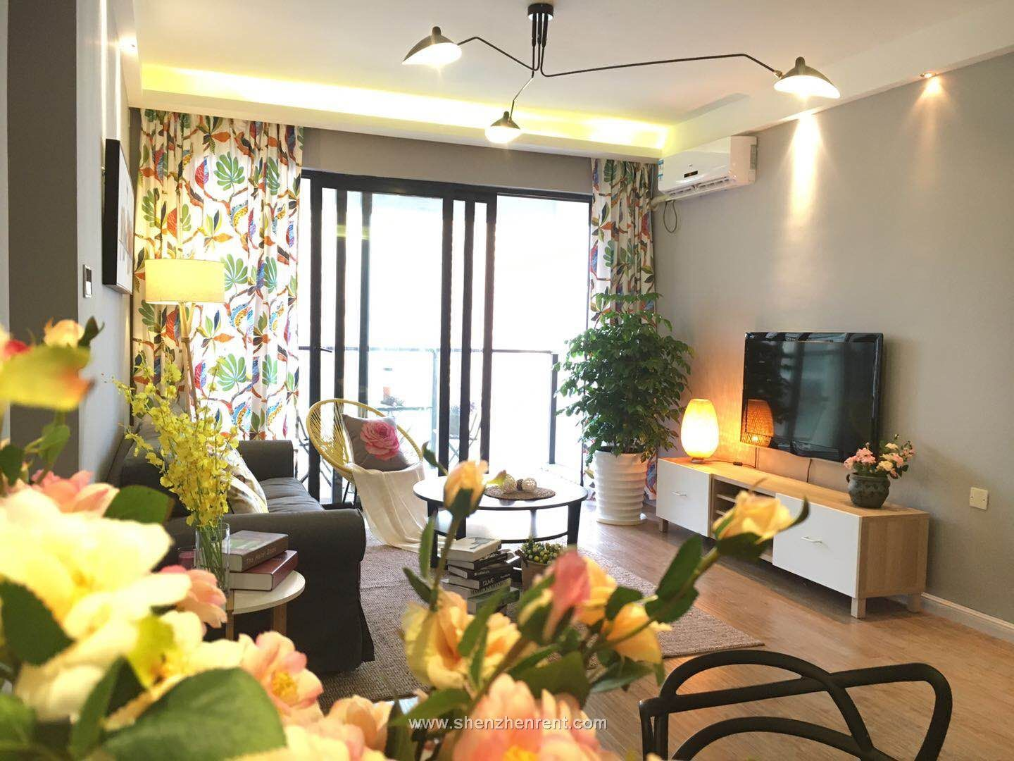 Newly renovated luxurious 2 bedrooms apartment in shekou for rent
