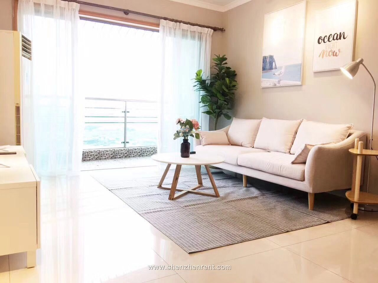 Newly updated 2 bedrooms apartment in shekou for rent